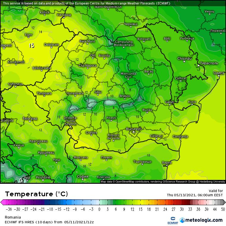 Prognoza meteo Romania 12 Mai 2021 (Romania weather forecast)