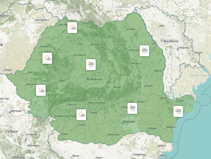 Prognoza meteo Romania 29 Iunie 2021 (Romania weather forecast)