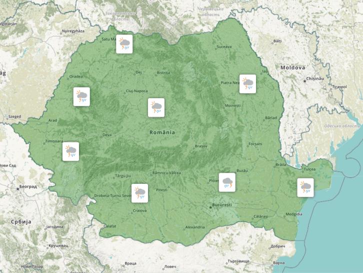 Prognoza meteo Romania 25 Iunie 2021 (Romania weather forecast)