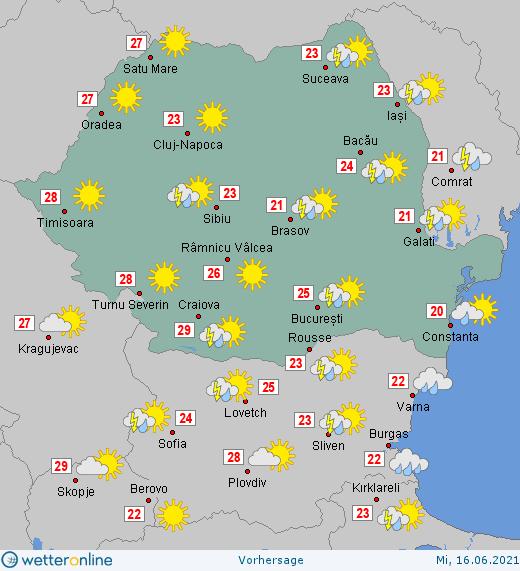 Prognoza meteo Romania 16 Iunie 2021 #Romania #vremea
