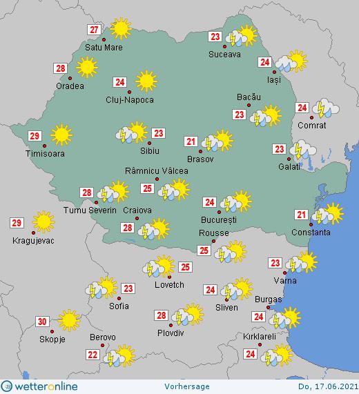 Prognoza meteo Romania 17 Iunie 2021 #Romania #vremea