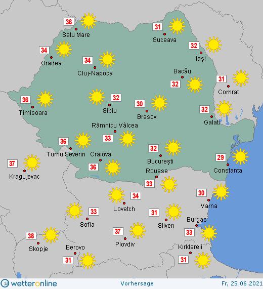 Prognoza meteo Romania 25 Iunie 2021 #Romania #vremea