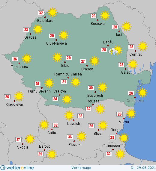 Prognoza meteo Romania 29 Iunie 2021 #Romania #vremea