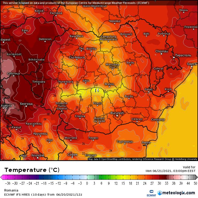 Prognoza meteo Romania 21 Iunie 2021 (Romania weather forecast)
