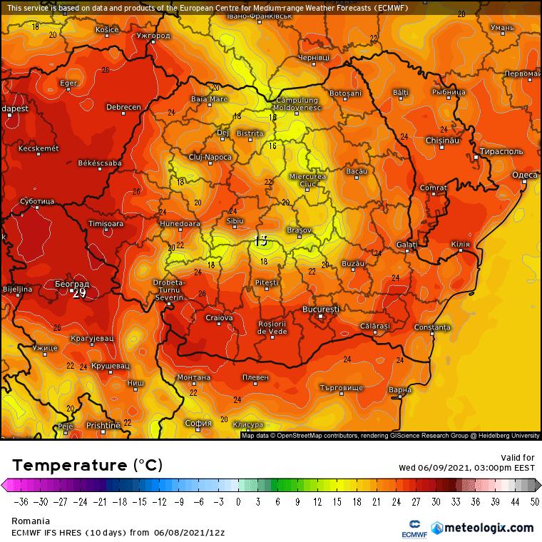 Prognoza meteo Romania 9 Iunie 2021 (Romania weather forecast)
