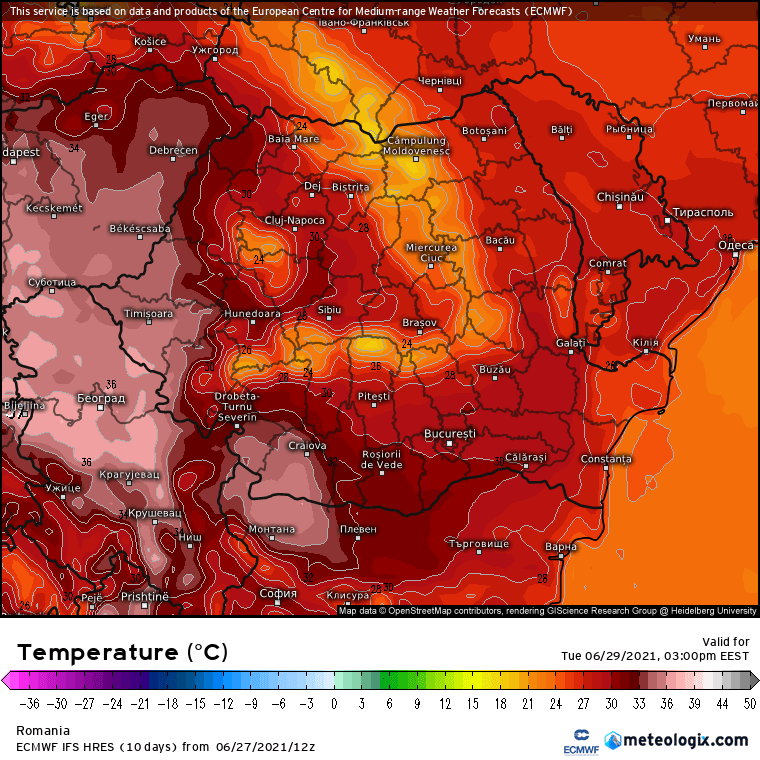 Prognoza meteo Romania 28 Iunie 2021 (Romania weather forecast)