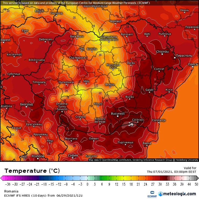 Prognoza meteo Romania 30 Iunie 2021 (Romania weather forecast)