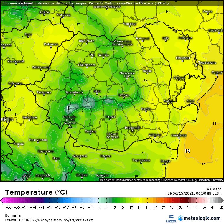 Prognoza meteo Romania 14 Iunie 2021 (Romania weather forecast)