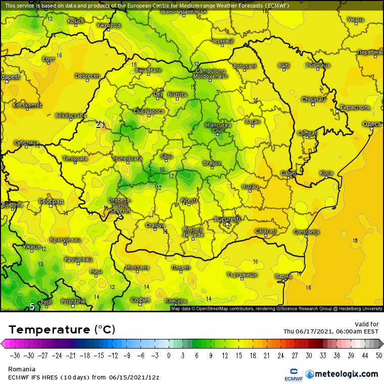 Prognoza meteo Romania 17 Iunie 2021 (Romania weather forecast)