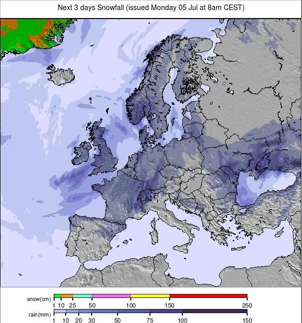 Precipitation maps Europe #rainfall (Precipitații în Europa)