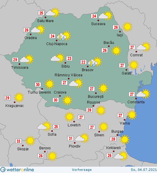 Prognoza meteo Romania 4 - 5 Iulie 2021 #Romania #vremea