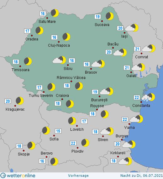 Prognoza meteo Romania 4 Iulie 2021 (Romania weather forecast)
