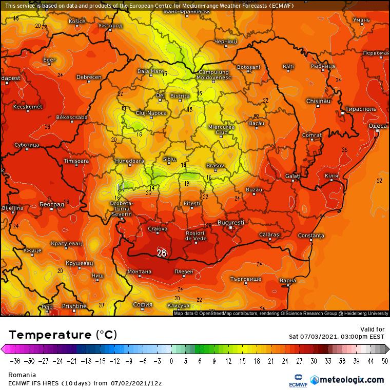 Prognoza meteo România  3 - 4 Iulie (Romania  forecast).