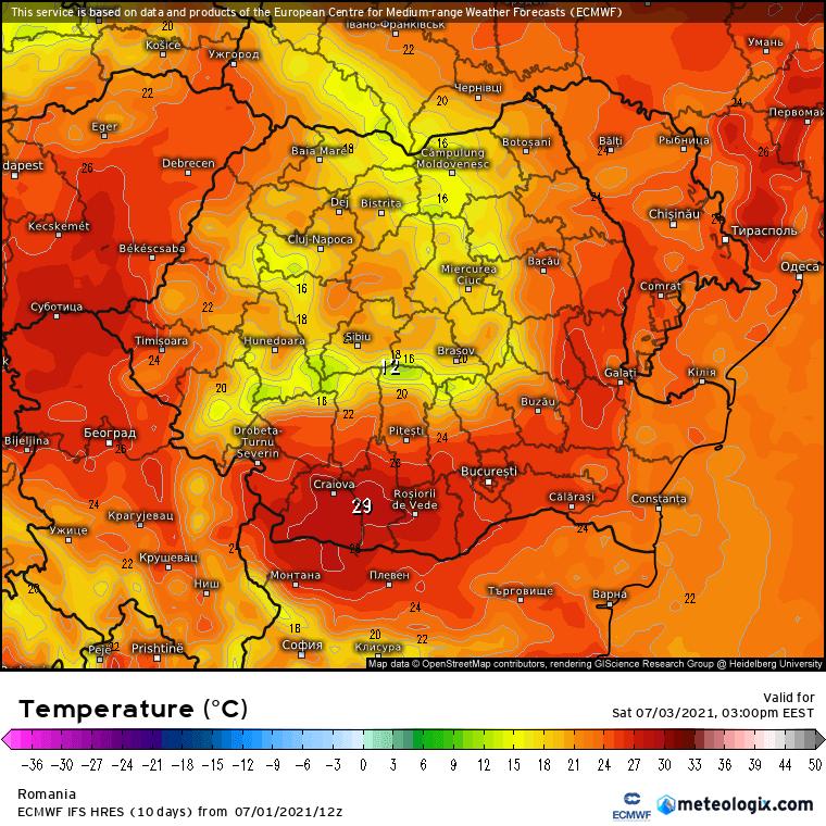 Prognoza meteo Romania 2 Iulie 2021 (Romania weather forecast)