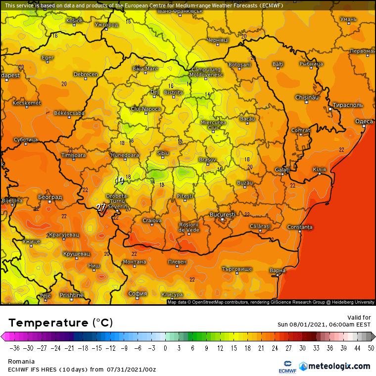 Prognoza meteo România  31 Iulie - 1 August (Romania  forecast)