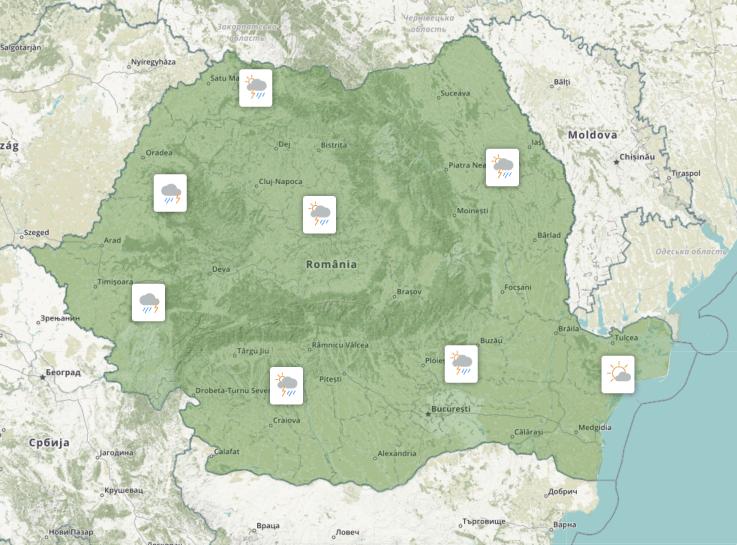 Prognoza meteo Romania 4 August 2021 (Romania weather forecast)