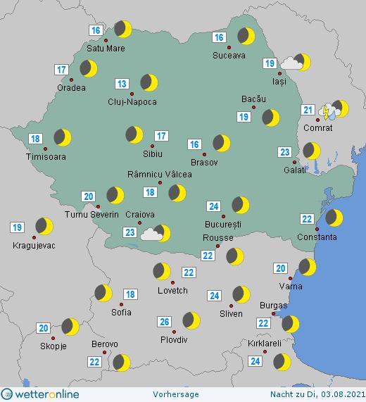 Prognoza meteo Romania 2 August 2021 (Romania weather forecast)