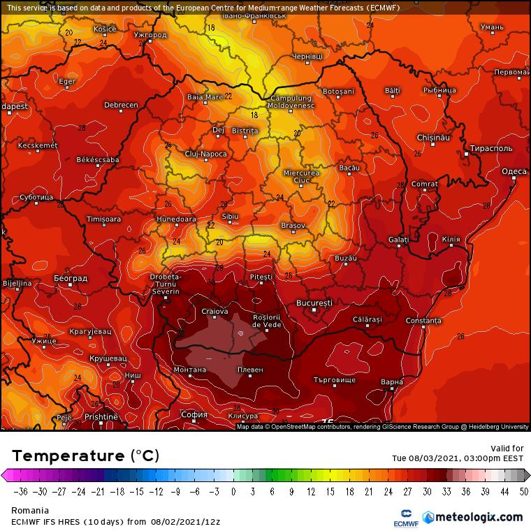 Prognoza meteo Romania 3 August 2021 (Romania weather forecast)