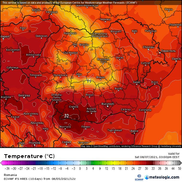 Prognoza meteo Romania 6 August 2021 (Romania weather forecast)
