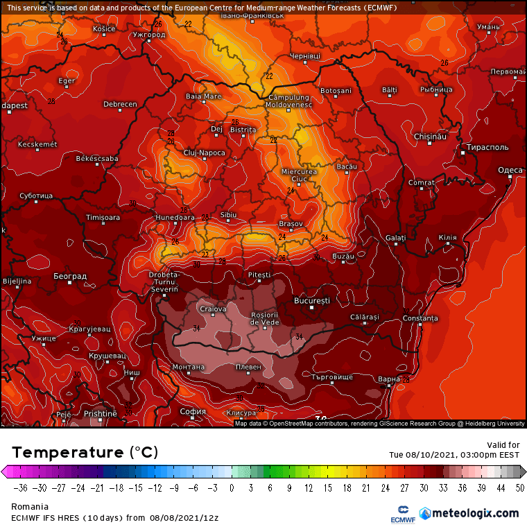 Prognoza meteo Romania 9 August 2021 (Romania weather forecast)