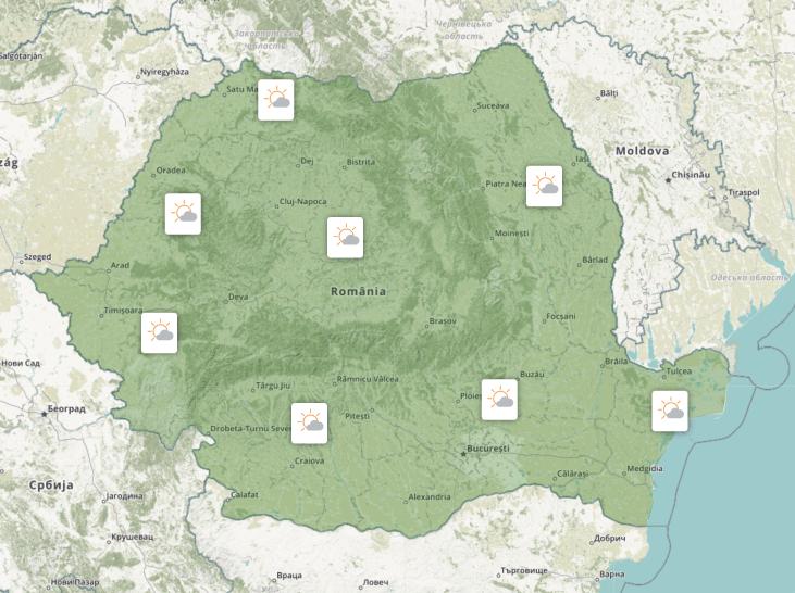 Prognoza meteo România  11 - 12 September (Romania  forecast)