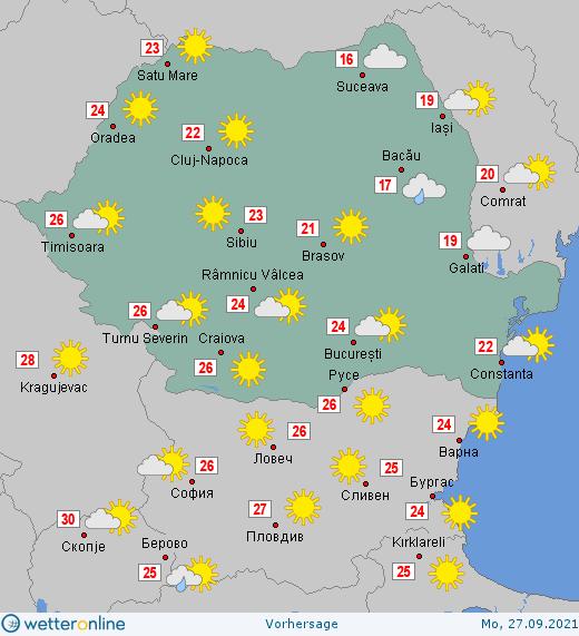 Prognoza meteo Romania 26 - 27 Septembrie 2021 #Romania #vremea