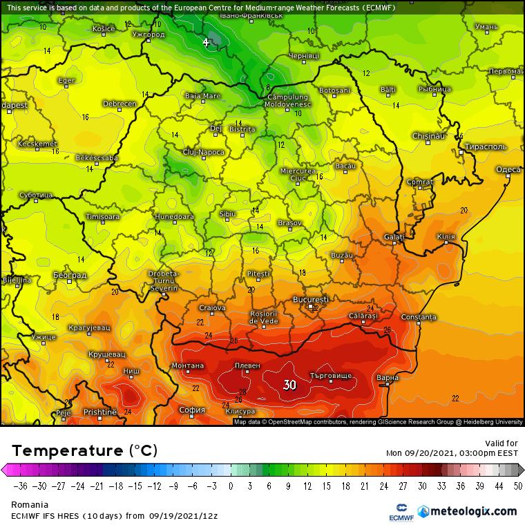 Prognoza meteo Romania 20 Septembrie 2021 (Romania weather forecast)