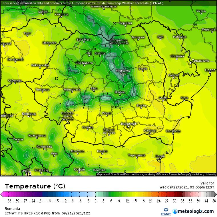Prognoza meteo Romania 22 Septembrie 2021 (Romania weather forecast)