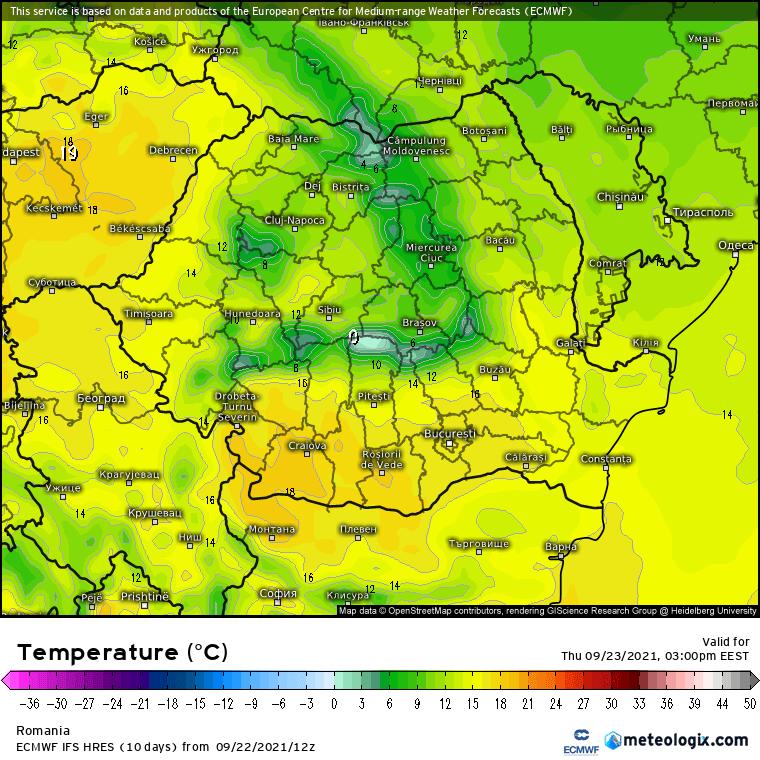 Prognoza meteo Romania 23 Septembrie 2021 (Romania weather forecast)