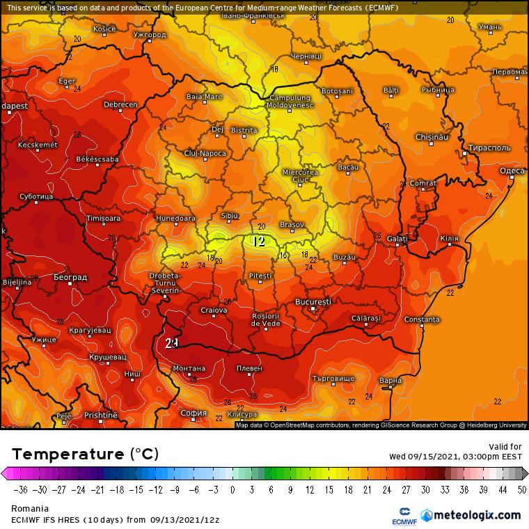 Prognoza meteo Romania 14 Septembrie 2021 (Romania weather forecast)