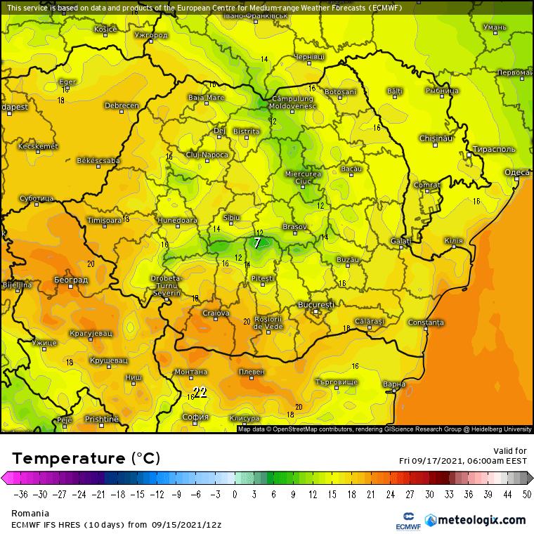 Prognoza meteo Romania 16 Septembrie 2021 (Romania weather forecast)