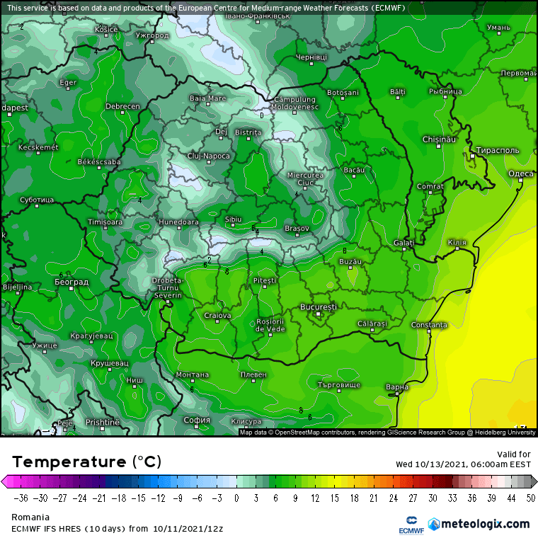 Prognoza meteo Romania 12 Octombrie 2021 (Romania weather forecast)