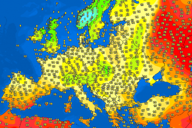 Noontime temperatures Europe – Major cities temperature #weather (Temperaturile pranzului in Europa)