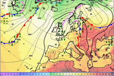 Europe weather forecast h Fronts