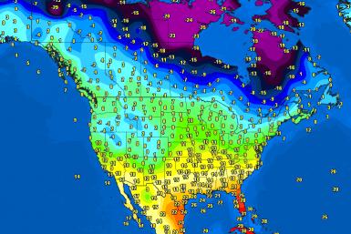 Temperatures North America
