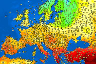 temperatures Europe