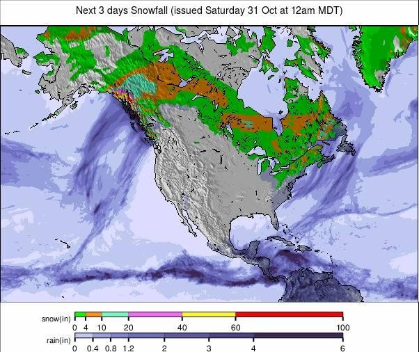 Precipitation maps North America #USA #rainfall (Precipitații în SUA)
