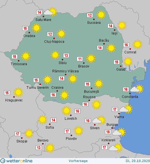 Prognoza meteo Romania 20 Octombrie 2020 #Romania #vremea