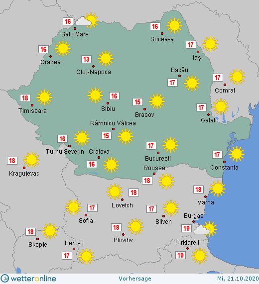 Prognoza meteo Romania 21 Octombrie 2020 #Romania #vremea
