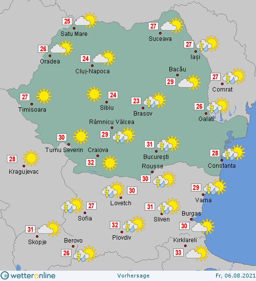 Prognoza meteo Romania 6 August 2021 #Romania #vremea