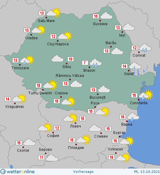 Prognoza meteo Romania 13 Octombrie 2021 #Romania #vremea