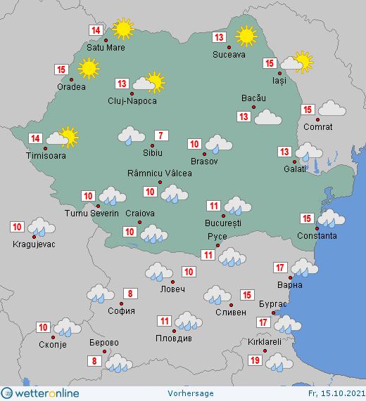 Prognoza meteo Romania 15 Octombrie 2021 #Romania #vremea